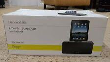 Brookstone Power Speaker iPod Dock Stereo - New