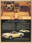 1989 Chrysler TC by Maserati convertible color photo vintage print Ad
