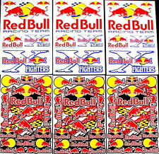 6 sheets bulls motocross stickers mx energy drink promo SKI rockstar rc bike bmx