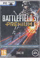 Battlefield 3 Premium Edition 5 Expansion Packs Code in a Box Brand New Sealed