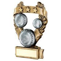 Lawn Bowls Crown Green Laurel Star Award with FREE Engraving 3 sizes RF487