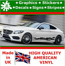 """10"""" High Car Side Stripes Graphic Decal Vinyl Stickers Van Auto Rally Race F1_68"""
