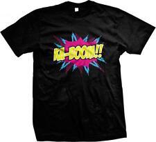 Ka-Boom- Neon Hot Trendy Comic Sound Effect Funny Sayings Mens T-shirt