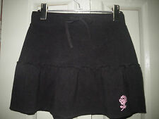 As New Miss Sixty Miss Sixteen 14 16 Black Stretch Cotton Tie Waist Mini Skirt
