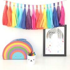 Bright Rainbow Tassel Garland. First Birthday Party, Baby Shower, Christening