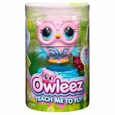 OWLEEZ Interactive Flying Baby Owl Lights Sounds Rechargeable Nest IN HAND Pink