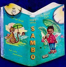 STORY OF BRAVE LITTLE BLACK SAMBO ~ Vintage Children's Shape Story Book