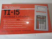 NEW Texas Instruments Educator TI-15 Scientific Calculator Overhead Projector