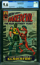 DAREDEVIL #18 CGC 9.6 OWW ORIGIN AND 1ST APPEARANCE OF GLADIATOR CGC #0346396013