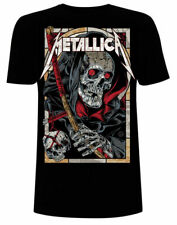 Official Metallica T Shirt Death Reaper Black Classic Rock Metal Band Tee New