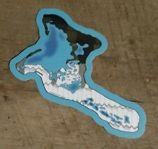 "CHRISTMAS ISLAND BONEFISH sticker decal saltwater fly fishing 4.5"" x 4"" flies"
