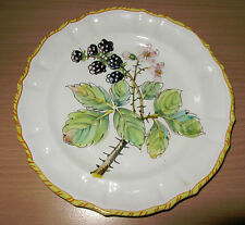 Vintage Blackberry Fruit Plate Italy Made For Woodward & Lothrop Dept Store DC