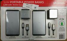 2 Ubio Labs Slim Power Banks 6000mAh RAPID CHARGE Micro USB Android, iPhone ++
