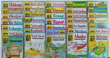 HUGE Lot of 35 State Books, 21 Maps, Game Guide WHICH WAY USA Homeschool C247