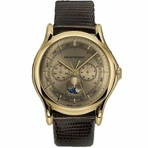 Armani ARS4203 Men's Swiss Made Yellow gold Quartz Watch