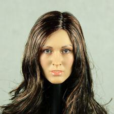 1/6 Scale Phicen, Hot Stuff - Caucasian Female Head Sculpt w/ Brunette Hair