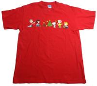 Charlie Brown Peanuts Gang Christmas Tee Yazbek Size Large Snoopy Lucy Woodstock