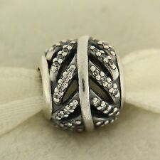 Authentic Pandora 791186CZ Light As A Feather Clear Sterling Silver Bead Charm