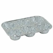 8 Pack Disposable Recyclable Aluminum Foil 6 Muffin Pan