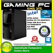 INTEL DUAL CORE 3.5Ghz GAMING PC 8GB-240gb SSD-1tb HDD- GT-710 GFX -WiFI-Win10