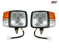 LH & RH Head Side lights Wired lamps Indicator H4 Lamps For JCB Manitou Matbro