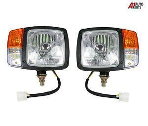 For JCB Telehandler Loader Loadall Headlight Head Lights Lamp Headlamp Indicator