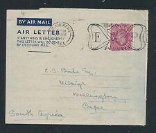 04201) GB / UK GA Aerogramme LF1 I, St.Andrews 26.11.47 > South Africa