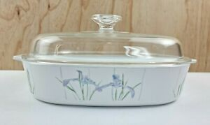 Corning Ware 2.5 Litre Casserole Dish With Lid Shadow Iris Patter A 10 B
