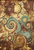 Wool/ Silk 9'x12' Abstract Artistic Modern Oriental Area Rug Hand-knotted Carpet