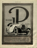 1920 DuPont Motor Cars Advertisement: Wilmington, Delaware - Speed, Endurance