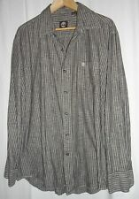 "Lovely Timberland grey stripe cotton shirt   L = 48""  chest only £7 free p+p"