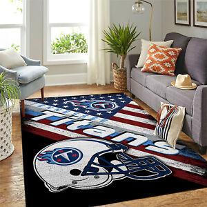 Tennessee Titans NFL US Flag & Snoopy Team Logo Home Decor Rectangle Area Rug