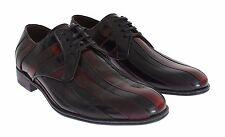 NUEVO CON ETIQUETA DOLCE & GABBANA Negro Burdeo Vestido De Cuero Zapatos