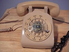 Vintage Beige Western Electric 500 Rotary Desk Phone Bell System