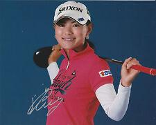 SAKURA YOKOMINE SIGNED AUTO'D 8X10 PHOTO POSTER LPGA TOUR JAPAN SRIXON D
