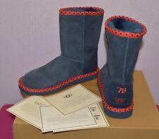 UGG Australia Women 1005080 Classic Short 78 Shearling Boots Navy Size US 5 EU36