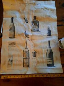 A2 Jim beam small batch bourbon poster - bookers ,bakers,knob Creek & basil hayd