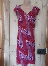 V-Neck Short Sleeve Geometric Regular Size Dresses for Women