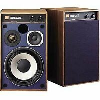 JBL 4312M2WX pair small monitor speakers walnut pair Harman Japan blue line NEW!