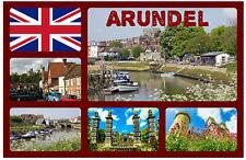 Arundel, West Sussex - RECUERDO ORIGINAL Imán de NEVERA-MONUMENTOS/Ciudades-