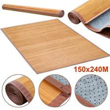 Quality Brown Slat Bamboo Floor Carpet Area Rug Mat 100% Natural Bamboo Wood