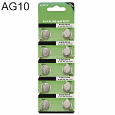 AG10 10pcs LR1130 389 LR54 L1131 189 Alkaline Button Coin Cell Battery Suncom HS