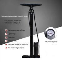 NEW Bike Cycle Bicycle Tyre Hand Air Mini Pump w/Gauge Heavy Duty Floor Standing