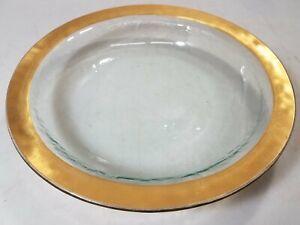 Decorative Art Gold Rimmed Glass Bowl