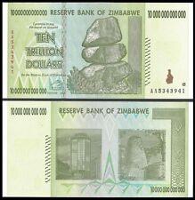 10 TRILLION ZIMBABWE DOLLAR AA MONEY CURRENCY.Circulated AU*20 50 100*