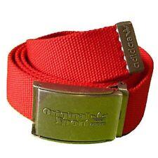 New Mens Adidas Originals Spo Sports Clasp Canvas Belt Mens Size Blue and Green