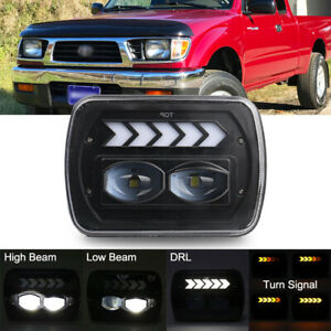 """5x7"""" 7x6'' LED Headlight with H4 Harness for Toyota 95-97 Tacoma & 88-95 Pickup"""