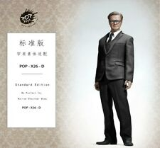 1/6 Standard Men Business Suit Black Blue Grey Western-Style For Hot Toys Figure