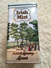 "Irish Mist Ireland's Legendary Liqueur HINGED Tin 8.75"" x 4.5"" EUC DUBLIN decor"