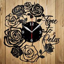 Vinyl Clock Time to relax Original Vinyl Record Clock  Home Decor Handmade Gift